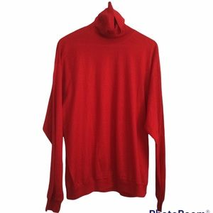 Vintage Red Long Sleeve Shirt SCARAB Made in Italy Size 54 XL 100% cotton